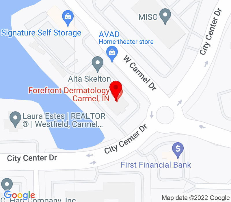 Click to view Google maps office address 755 West Carmel Dr. , Suite 213, Carmel, IN 46032